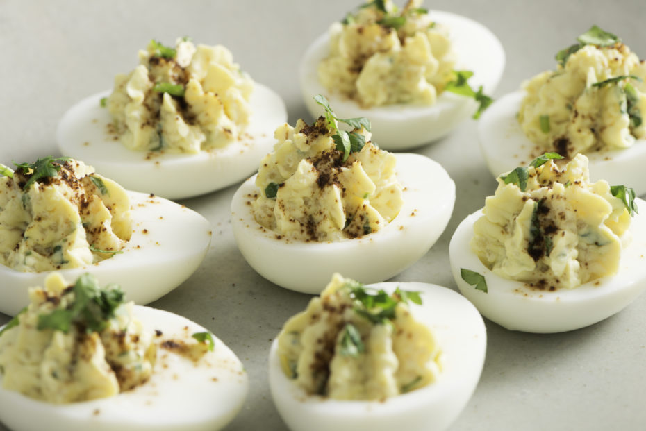 Quinoa and Greek Yogurt Deviled Eggs