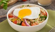 Summer Grilled Vegetable & Quinoa Salad with Eggs