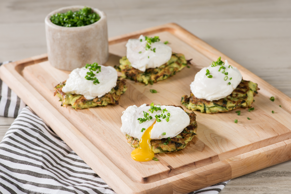 Zucchini-fritters-with-Poached-Egg
